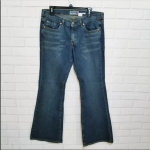 Old Navy Stretch Jeans Ultra Low Rise Flare Denim